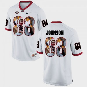White Pictorial Fashion Toby Johnson UGA Jersey Mens #88 566986-611