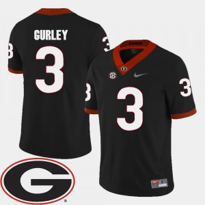 Todd Gurley UGA Jersey 2018 SEC Patch #3 Men's Black College Football 618812-736
