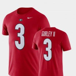 Red Todd Gurley II UGA T-Shirt Football Performance #3 Men 647785-469