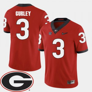 2018 SEC Patch College Football Red #3 For Men's Todd Gurley UGA Jersey 875221-727