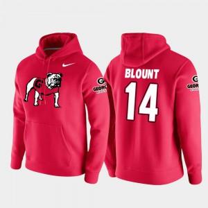 Trey Blount UGA Hoodie Men Red Vault Logo Club College Football Pullover #14 210483-683