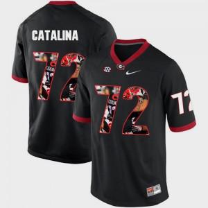 #72 Tyler Catalina UGA Jersey Pictorial Fashion Men Black 495947-113