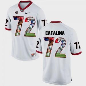 Tyler Catalina UGA Jersey #72 White Pictorial Fashion For Men 464949-796
