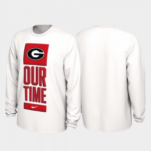 White Men UGA T-Shirt 2020 March Madness Our Time Bench Legend 638781-848