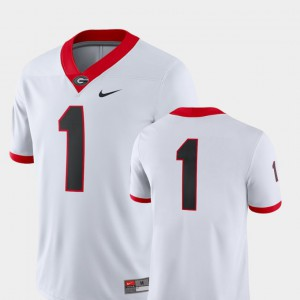 #1 UGA Jersey 2018 Game White For Men College Football 429076-267