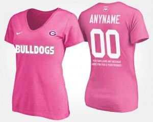 Pink With Message UGA Custom T-Shirt #00 Women's 691590-515
